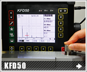 KFD50 簡易取扱説明書  垂直探傷 測定範囲の調整方法